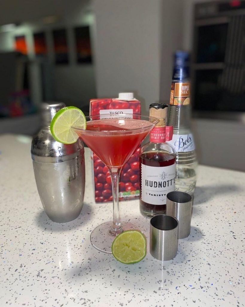 Hudnott's Redcurrant Vodka serving suggestion